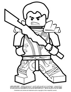 Ninjago Jay KX In Elemental Robe Coloring Page Free Printable PagesColoring