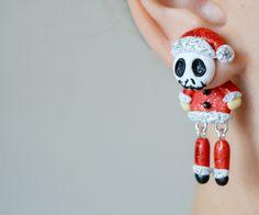 Dangle Earrings – Christmas Skellington Jack dangling earrings – a unique product by JewelryandPleasure on DaWanda