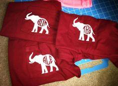 Monogrammed Elephant Pocket Tee @Keitha Harding