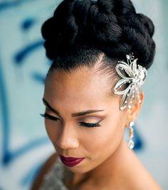 Ideas Wedding Hairstyles Updo African American For 2019 Ideen Hochzeitsfrisuren Hochsteckfri Natural Wedding Hairstyles, Braided Hairstyles For Black Women, Bride Hairstyles, Black Hairstyles, Female Hairstyles, Beautiful Hairstyles, Crazy Hairstyles, Bridesmaids Hairstyles, Woman Hairstyles