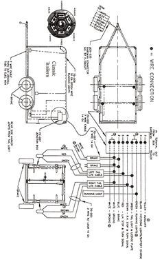 7 pin trailer plug light wiring diagram color code boat wiring diagram
