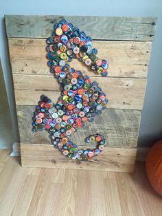 Beer Bottle Cap Art #seahorse