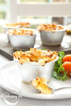Brilliant mini fish pies. A creamy, cheesy fish filling with a fluffy potato topping; quick and easy for kids to make, and super-tasty too. #PowerofFrozen