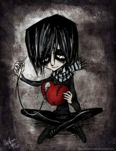 apparently it be draw something emo night Emo Kunst, Gothic Kunst, Art Emo, Goth Art, Anime Chibi, Manga Anime, Dark Fantasy, Fantasy Art, Art Sinistre