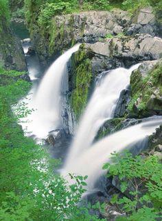 Sol Duc Falls, Olympic National Park, Port Angeles, Washington http://PinterestBob.net