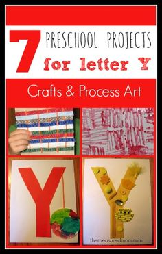 preschool crafts for letter Y 1 the measured mom 7 Letter Y Crafts and Process Art for Preschoolers
