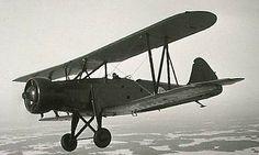 """Ilmavoimat VL Tuisku (""""Snowstorm"""") Trainer - from my alternative history of the Winter War at http://www.alternativefinland.com/the-1933-ilmavoimat-procurement-program/"""