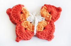 gomita mariposa gama de naranjas 2 - de las bolivianas — de las bolivianas