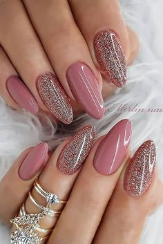 Mar 2020 - trendy nail art ideas for women to try asap page 14 Classy Nails, Stylish Nails, Fancy Nails, Pink Nails, Cute Nails, Gel Nails, Nail Polish, Perfect Nails, Gorgeous Nails