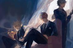 AU - Characters: Katsuki Bakugou, Todoroki Shouto, Midoriya Izuku
