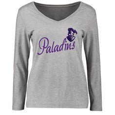 Furman Paladins Women's Dora Slim Fit Long Sleeve T-Shirt - Ash