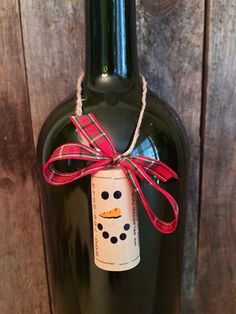 Set of 6 Wine Cork Snowman Ornaments by ReconditionaILove on Etsy