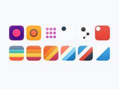 Icons for Secret App by Alexander Zaytsev