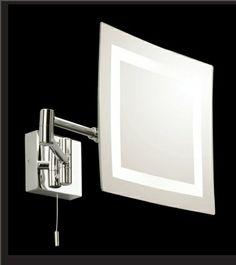 Loft & Bath® Noir > Luminaires Loft & Bath® > Miroir de courtoisie carré 25W IP44