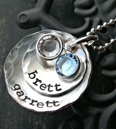 Hand Stamped Necklace - Sterling Silver. Great for a mother! Www.myjbloom.com/Abbey