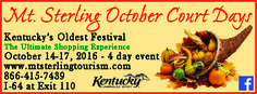 Mt. Sterling-Montgomery County Tourism is home of October Court Days, which is right around the corner! While in town, travel east where adventure awaits in Morehead & visit the Kentucky Folk Art Center-start planning today at Morehead Tourism! #KYTravel