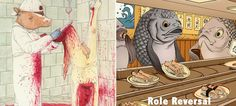 如果角色對調?!15 幅令人震驚插畫,讓人類體會動物的感受 2