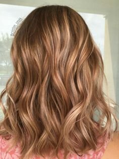 Carmel hair blonde highlights