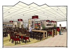 Euston Food Court - Creating a relaxing environment for travellers