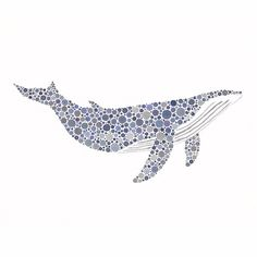 I'm loving whales lately.  I think I'm going to try and recreate this on a larger scale to hang above the fireplace....