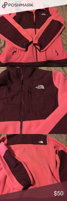 The North Face Women's Denali 2 Denali 2 jacket. Has some use in it, but great condition. Is maroon and pink. No stains, tears, holes or snags. Have a new jacket so don't really need two(: The North Face Jackets & Coats