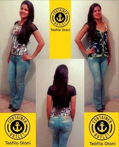 NOVIDADES Container Outlet Calça jeans flare 99,99 Blusas 29,99 #VemProContainer #ContainerOutlet #Modafeminina