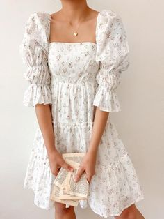 Pretty Outfits, Pretty Dresses, Cute Outfits, Elegant Summer Dresses, Beautiful Casual Dresses, Romantic Dresses, Romantic Outfit, Spring Dresses, Casual Outfits