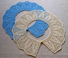 NEW Crochet collar Peter Pan collar Blue crochet by VerLenCrochet