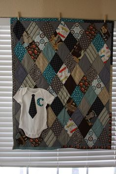 Old onsie's quilt. Definitely going to make one of these!