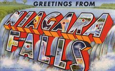 Greetings from Niagara Falls, New York - Large Letter Postcard by Shook Photos, via Flickr