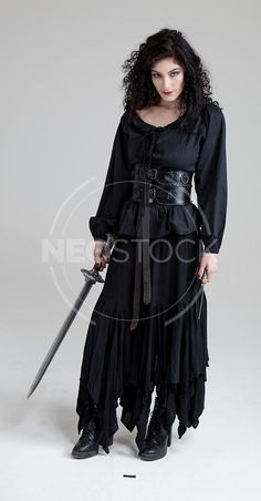 Female Curly Haired Gypsy Witch Stock Photography