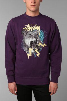 Stussy Lion Sweatshirt Crew Sweatshirt