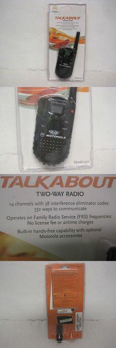 motorola talkabout 250. walkie talkies two-way radios: new motorola talkabout 250 two way radio-2 w