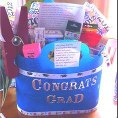 Gift idea for a teacher college graduate!    A twist on the teachers survival kit..