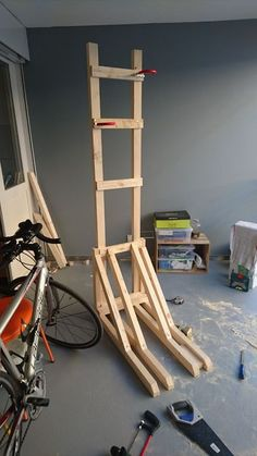 Vertical Bike Rack From 2x4s: 7 Steps (with Pictures)