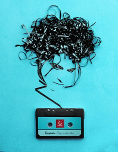 A cassette tape broke my heart one time: a tangled mess just like this. / music, art