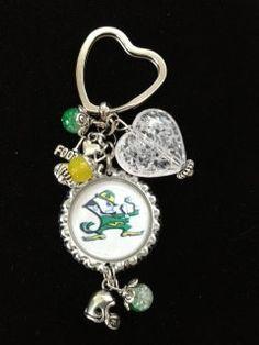 university of notre dame fighting irish Bottle Cap keychain. $5.00, via Etsy.