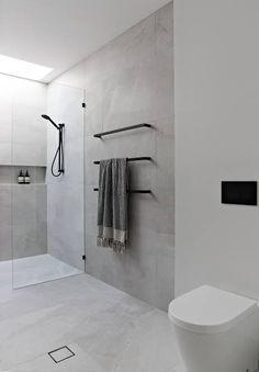 Bathroom Layout, Modern Bathroom Design, Bathroom Interior Design, Bathroom Cabinets, Tile Layout, Minimalist Bathroom Design, Eclectic Bathroom, Bathroom Tile Designs, Interior Modern