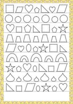 Trace the Dotted Lines Worksheets for Kids - Preschool and Kindergarten Preschool Writing, Preschool Learning, Preschool Activities, Teaching Kids, Autumn Activities, Tracing Worksheets, Alphabet Worksheets, Kindergarten Worksheets, Pre Writing
