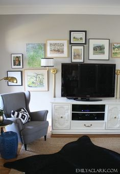 living room gallery wall (new art and the benefit of making little changes)