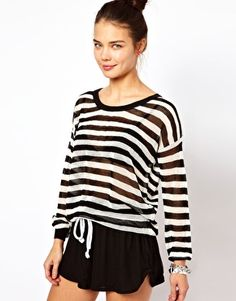 Discover the latest fashion and trends in menswear and womenswear at ASOS. Shop this season's collection of clothes, accessories, beauty and more. Asos Online Shopping, Latest Fashion Clothes, Jumper, Women Wear, Stripes, Spring, Sweaters, Beauty, Collection