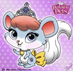 Brie Princess Palace Pet Coloring Page SKGaleana