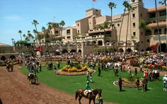 Delmar Racetrack - Where the Surf meets the Turf.  Possibly the most beautiful race track in North America.