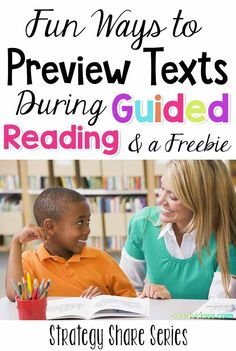 Add extra fun to your guided reading instruction with these fun teaching strategies. These strategies work great for struggling readers and for those students who need more challenge in your small groups. These teaching prompts are geared for kindergarten Guided Reading Activities, Comprehension Activities, Reading Centers, Reading Lessons, Reading Resources, Teaching Strategies, Teaching Reading, Reading Comprehension, Teaching Kids