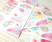 """NEW! KIT """"In Bloom"""" Planner Stickers - K-002 - 4 Sheets"""