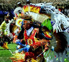 Native American tribal dancer.
