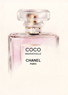 Coco Mademoiselle Perfume Bottle A5 Colour by DominiqueKirkby, £10.00