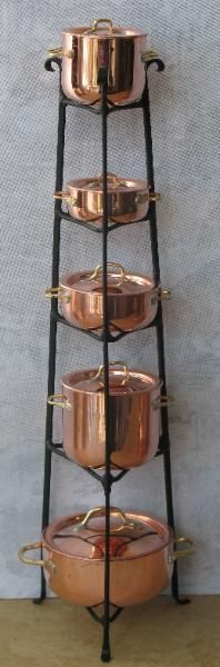 J. Getzan Dollhouse Miniature Copperware Miniature Copper Pots Pans