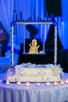 Wedding Planners - Eventrics l Wedding Event Design - Occasions by Shangri-La l Venue - Tampa Marriott Waterside l Photography - Castaldo Studios l Indian Wedding Cake