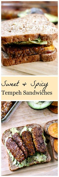 Sweet and Spicy Tempeh Sweet Potato Sandwiches | The Healthy Toast